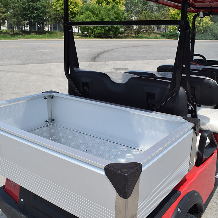 6 Seat electric hotel golf cart with cargo box
