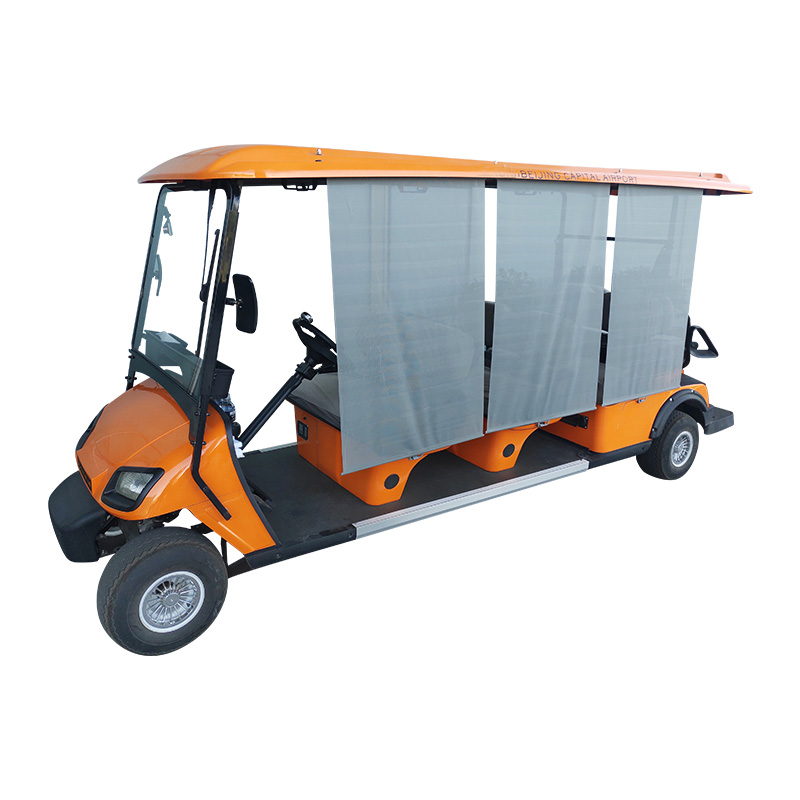 Orange Electric golf cart made in China